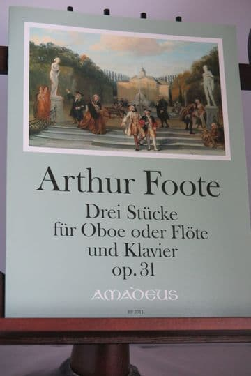 Foote A - Three Pieces Op 31 for Oboe (or Flute) & Piano